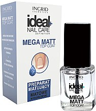 Düfte, Parfümerie und Kosmetik Nagelüberlack mit Matt-Effekt - Ingrid Cosmetics Ideal+ Nail Care Definition Mega Matt Top Coat