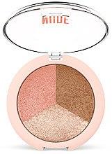 Düfte, Parfümerie und Kosmetik 3in1 Gesichtspuder - Golden Rose Nude Look