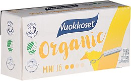 Düfte, Parfümerie und Kosmetik Bio Tampons ohne Applikator Mini 16 St. - Vuokkoset Organic Mini Tampons