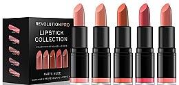 Düfte, Parfümerie und Kosmetik Lippenstift 5 St. - Revolution Pro 5 Lipstick Collection Matte Nude