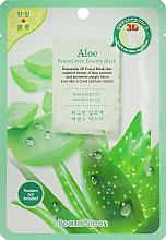 Düfte, Parfümerie und Kosmetik Feuchtigkeitsspendende und glättende Tuchmaske für das Gesicht mit Aloeextrakt - Beauugreen Contour 3d Aloe Essence Mask