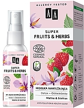 Düfte, Parfümerie und Kosmetik Feuchtigkeitsspendender und erfrischender Gesichtsnebel mit Himbeere und Safran - AA Super Fruits & Herbs