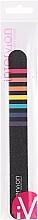 Düfte, Parfümerie und Kosmetik Nagelfeile schwarz mit farbigen Streifen - Inter-Vion
