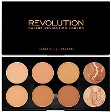 Düfte, Parfümerie und Kosmetik Rouge-Palette mit 8 Farben - Makeup Revolution All About Bronze
