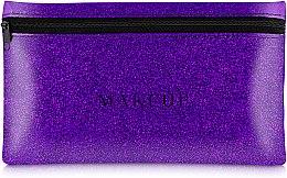 Düfte, Parfümerie und Kosmetik Kosmetiktasche Glitter Pouch violett 22x13 cm - MakeUp