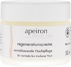 Revitalisierende Nachtpflege für normale bis trockene Haut - Apeiron Night Regeneration Cream — Bild N2