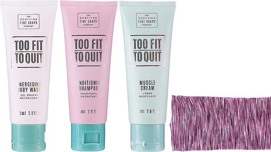 Körperpflegeset - The Scottish Fine Soaps Company To Fit To Quit (Duschgel 75ml + Shampoo 75ml + Körpercreme 75ml + Haarband) — Bild N3