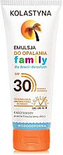 Düfte, Parfümerie und Kosmetik Wasserfeste Sonnenschutzemulsion für Kinder und Erwachsene SPF 30 - Kolastyna Family Suncare Emulsion SPF 30