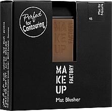 Düfte, Parfümerie und Kosmetik Mattierendes Rouge - Make Up Factory Mat Blusher