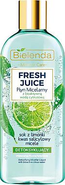 Entgiftendes Mizellenwasser für Gesicht mit Limette - Bielenda Fresh Juice Detoxifying Face Micellar Water Lime — Bild N1
