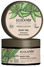 Düfte, Parfümerie und Kosmetik Intensiv feuchtigkeitsspendendes Körpergel mit Bio Aloe Vera-Extrakt und Holzkohle - Ecolatier Organic Aloe Vera Intensive Moisturizing Body Gel