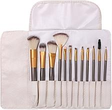 Düfte, Parfümerie und Kosmetik Make-up Pinselset in einem Pinseletui 12 St. - Lewer