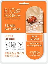 Düfte, Parfümerie und Kosmetik Ultra LIfting-Tuchmaske für das Gesicht mit Schneckenschleim - Biologica Snail