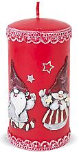 Düfte, Parfümerie und Kosmetik Dekorative Kerze rot 7x18 cm - Artman Dwarves