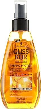 Trockenes Haaröl mit Thermoschutz - Schwarzkopf Gliss Kur Thermo Protect — Bild N1