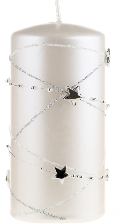 Dekorative Kerze Garland, Weiß - Artman Christmas Candle Garland Ø7xH18cm — Bild N1