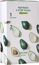 Düfte, Parfümerie und Kosmetik 2-Stufige Tuchmaske für das Gesicht mit Avocado - Village 11 Factory Refresh 2-Step Mask Green