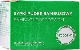 Düfte, Parfümerie und Kosmetik Bambuspulver für fettige und Mischhaut - Ecocera Bamboo Face Powder