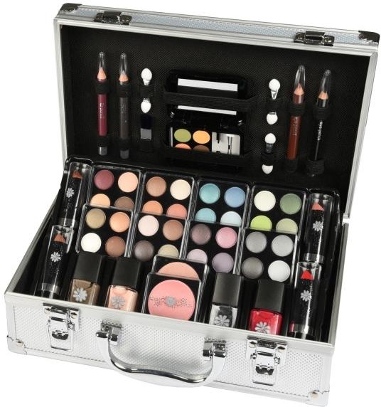 Set Strähnencreme ohne Ammoniak(3x60ml) + Booster(6x50g) - Makeup Trading Schmink Set Alu Case — Bild N1