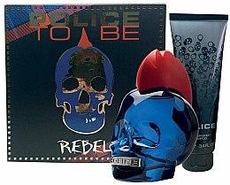 Düfte, Parfümerie und Kosmetik Police To Be Rebel - Duftset (Eau de Toilette 75ml + Duschgel 100ml)