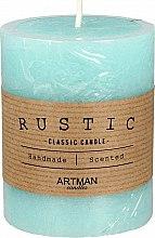 Düfte, Parfümerie und Kosmetik Handgemachte Duftkerze türkis - Artman Rustic Ø7xH9cm