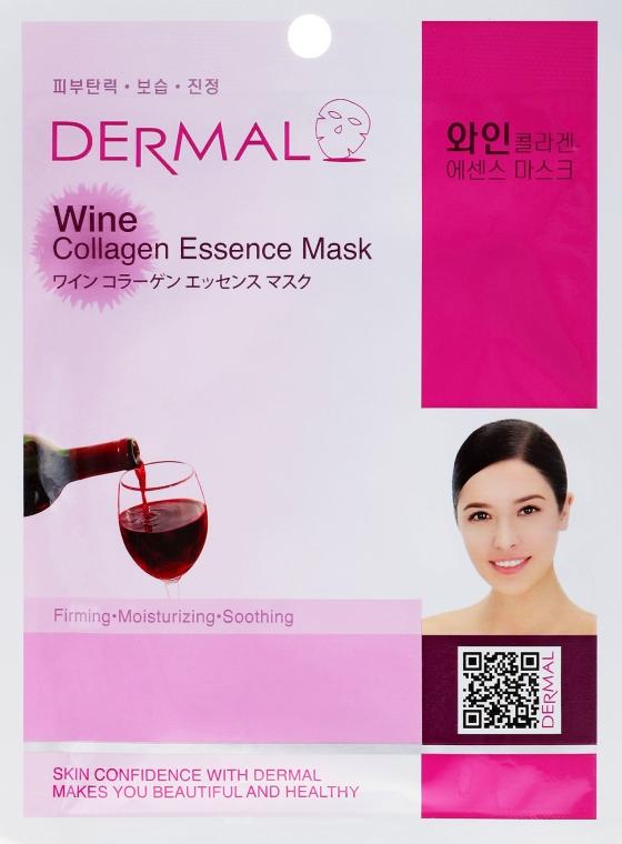 Gesichtsmaske mit Kollagen und Rotweinextrakt - Dermal Wine Collagen Essence Mask — Bild N1