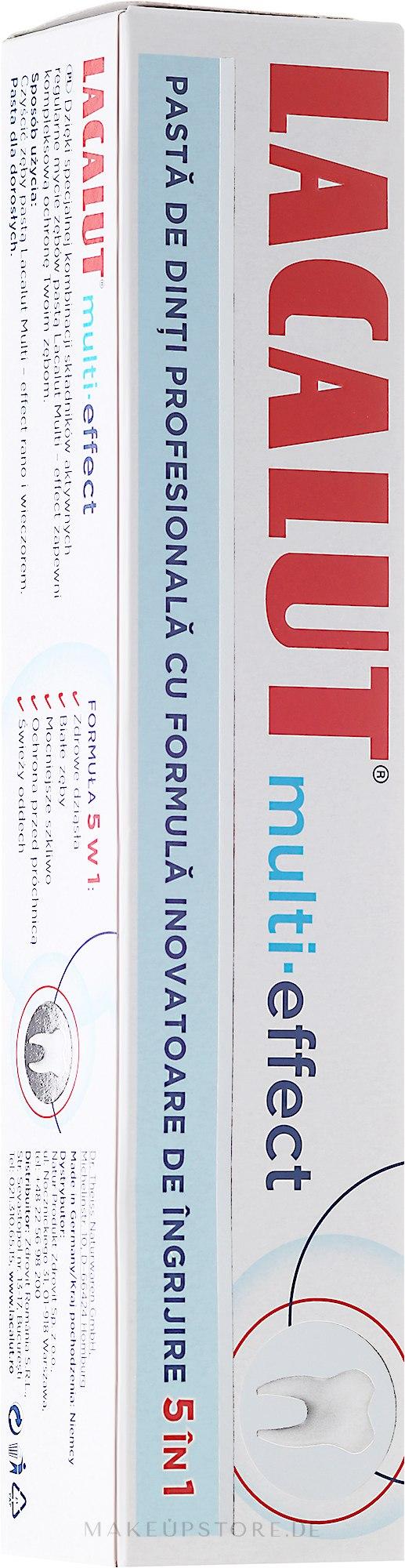 5in1 Zahnpasta mit Multi-Effekt - Lacalut 5in1 Multi-Effect Toothpaste — Bild 75 ml