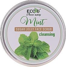 Düfte, Parfümerie und Kosmetik Reinigendes Gesichtspeeling mit Minze und Zuckergelee - Eco U Cleansing Mint Sugar Jelly Face Scrub