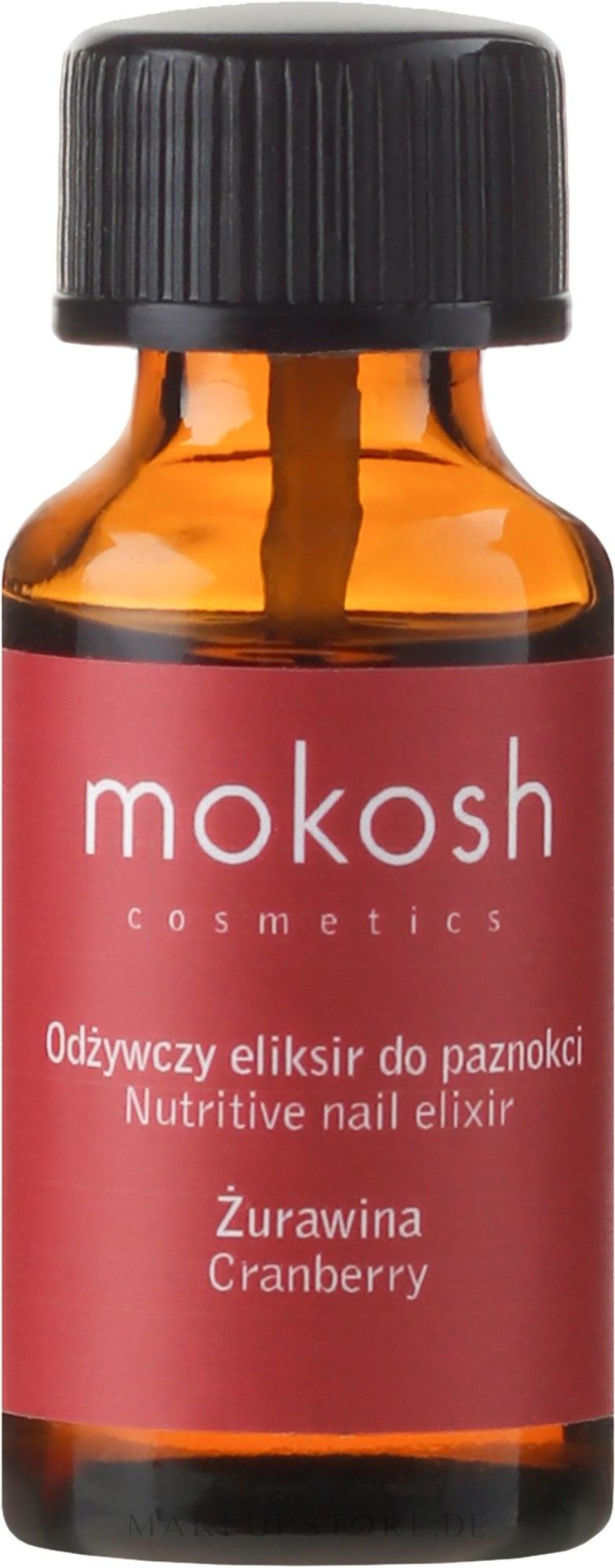 Elixier für Nägel mit Cranberry-Kernöl - Mokosh Cosmetics Nutritive Elixir Cranberry — Bild 10 ml
