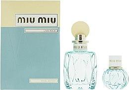 Düfte, Parfümerie und Kosmetik Miu Miu L'Eau Bleue - Duftset (Eau de Parfum 100ml + Mini 20ml)