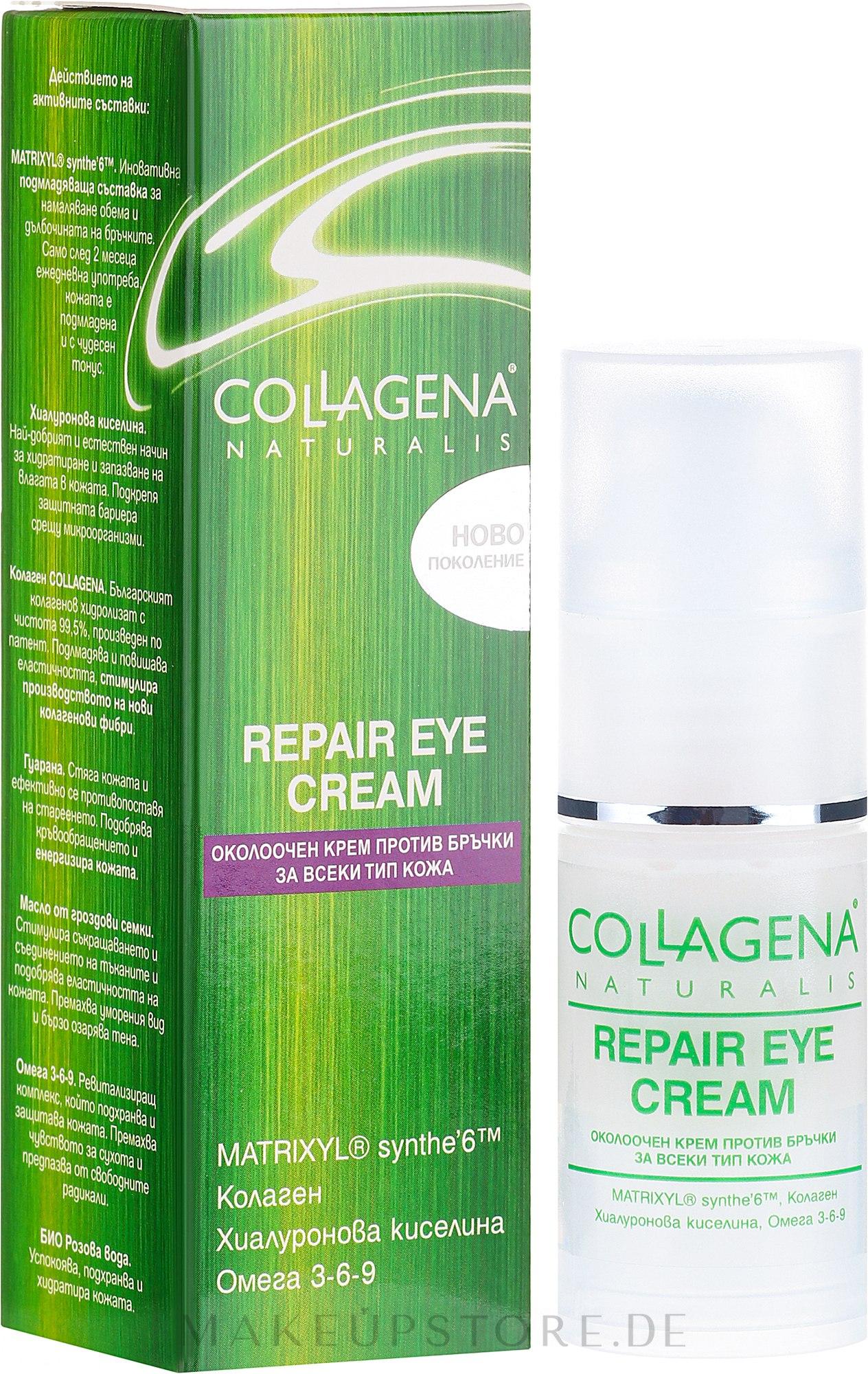 Anti-Falten Augencreme - Collagena Naturalis Repair Eye Cream — Bild 30 ml