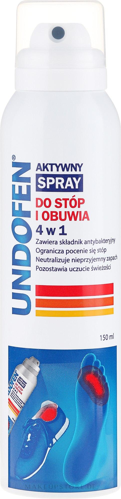 4in1 Fußspray - Undofen Active Foot Spray 4in1 — Bild 150 ml