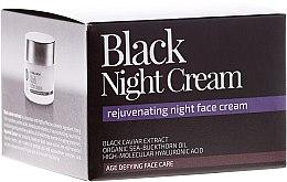 Düfte, Parfümerie und Kosmetik Verjüngende Nachtcreme mit schwarzem Kaviarextrakt, Sanddornöl und Hyaluronsäure - Natura Siberica Fresh Spa Imperial Caviar Black Night Cream