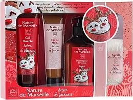 Düfte, Parfümerie und Kosmetik Körperpflegeset - Nature de Marseille Marshmallow Kiss Bath Cosmetics Set (Duschgel 100ml + Handcreme 60ml + Körperbalsam 150ml + Seife 90g)