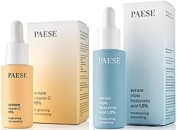 Düfte, Parfümerie und Kosmetik Gesichtspflegeset - Paese (Gesichtsserum mit Vitamin C 15ml + Gesichtsserum mit Hyaluronsäure 30ml)