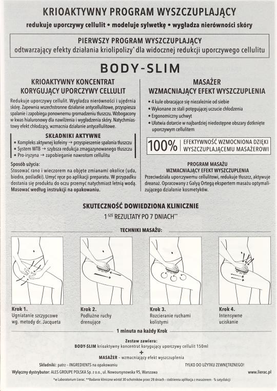 Körperpflegeset - Lierac Body-Slim (Körperkonzentrat 150ml + Massagegerät) — Bild N3