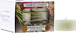 Düfte, Parfümerie und Kosmetik Teelichter Lemongrass & Ginger - Yankee Candle Lemongrass & Ginger Tea Light Candles