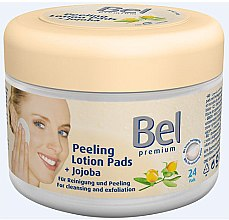 Düfte, Parfümerie und Kosmetik Feuchte Wattepads mit Peelingeffekt - Bel Premium Peeling Lotion Jojoba Pads