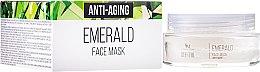 Düfte, Parfümerie und Kosmetik Regenerierende, festigende und feuchtigkeitsspendende Anti-Aging Gesichtsmaske mit Smaragd - Hristina Cosmetics SM Crystal Emerald Anti-Aging Face Mask