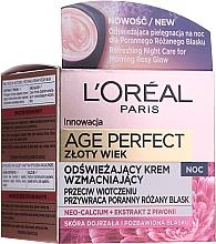 Düfte, Parfümerie und Kosmetik Stärkende Anti-Aging Nachtcreme - L'Oreal Paris Age Perfect Neo-Calcium Night Cream 60+