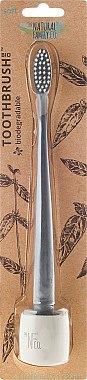Zahnbürste mit Ständer weich grau - The Natural Family Co Bio Brush & Stand Monsoon Mist — Bild N1