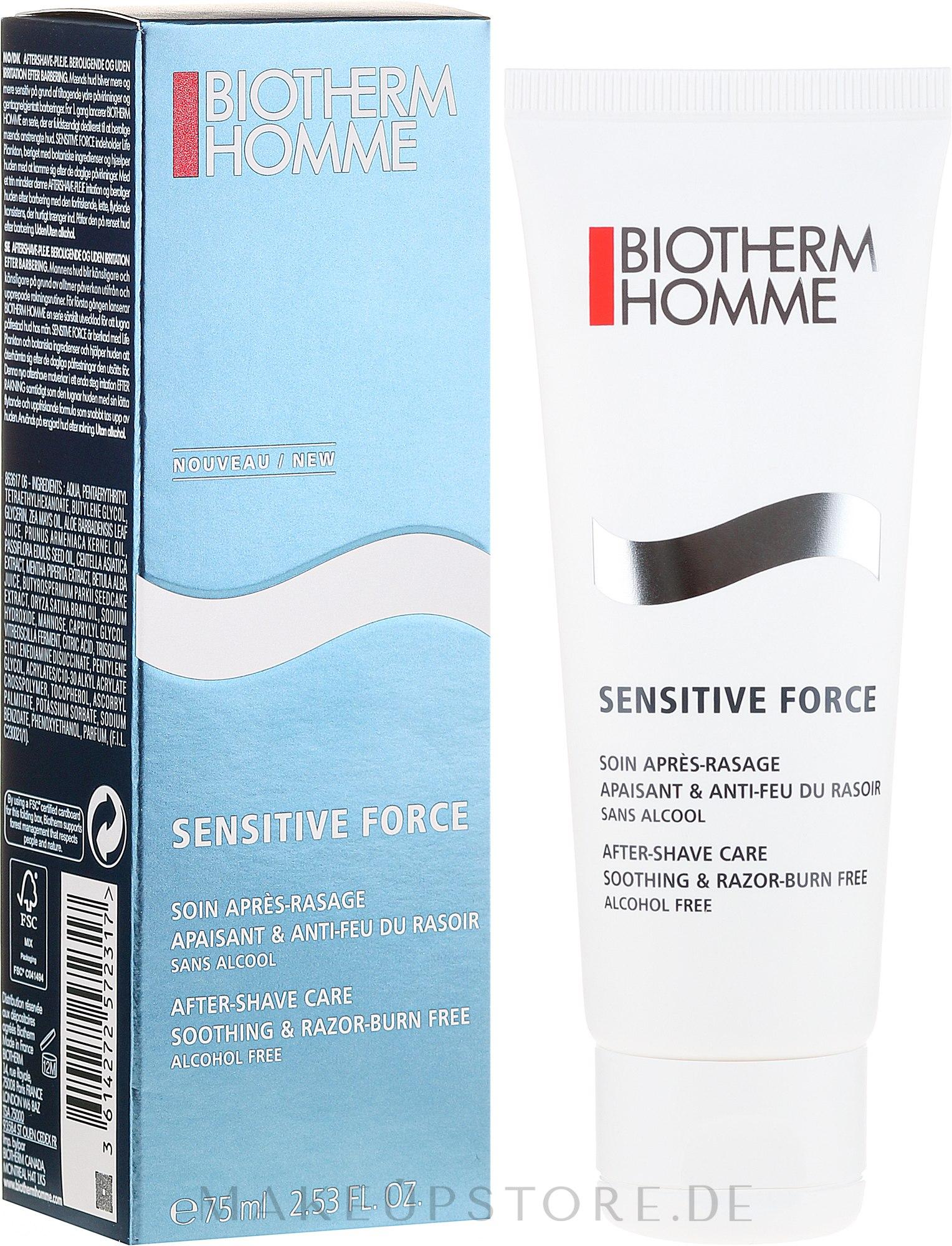 Beruhigender After Shave Balsam - Biotherm Sensitive Force After Shave — Bild 75 ml