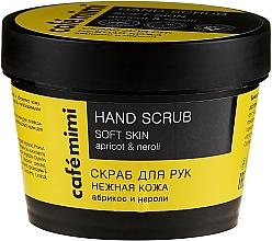 Düfte, Parfümerie und Kosmetik Handpeeling mit Aprikose und Neroli - Cafe Mimi Hand Scrub Soft Skin