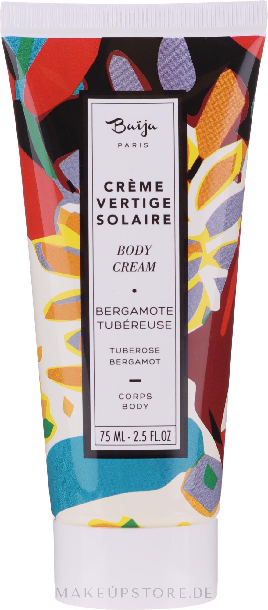 Parfümierte Körpercreme - Baija Vertige Solaire Body Cream — Bild 75 ml