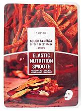 Düfte, Parfümerie und Kosmetik Nährende und beruhigende Tuchmaske mit rotem Ginseng und Kräuterextrakt - Deoproce Color Synergy Effect Sheet Mask Brown