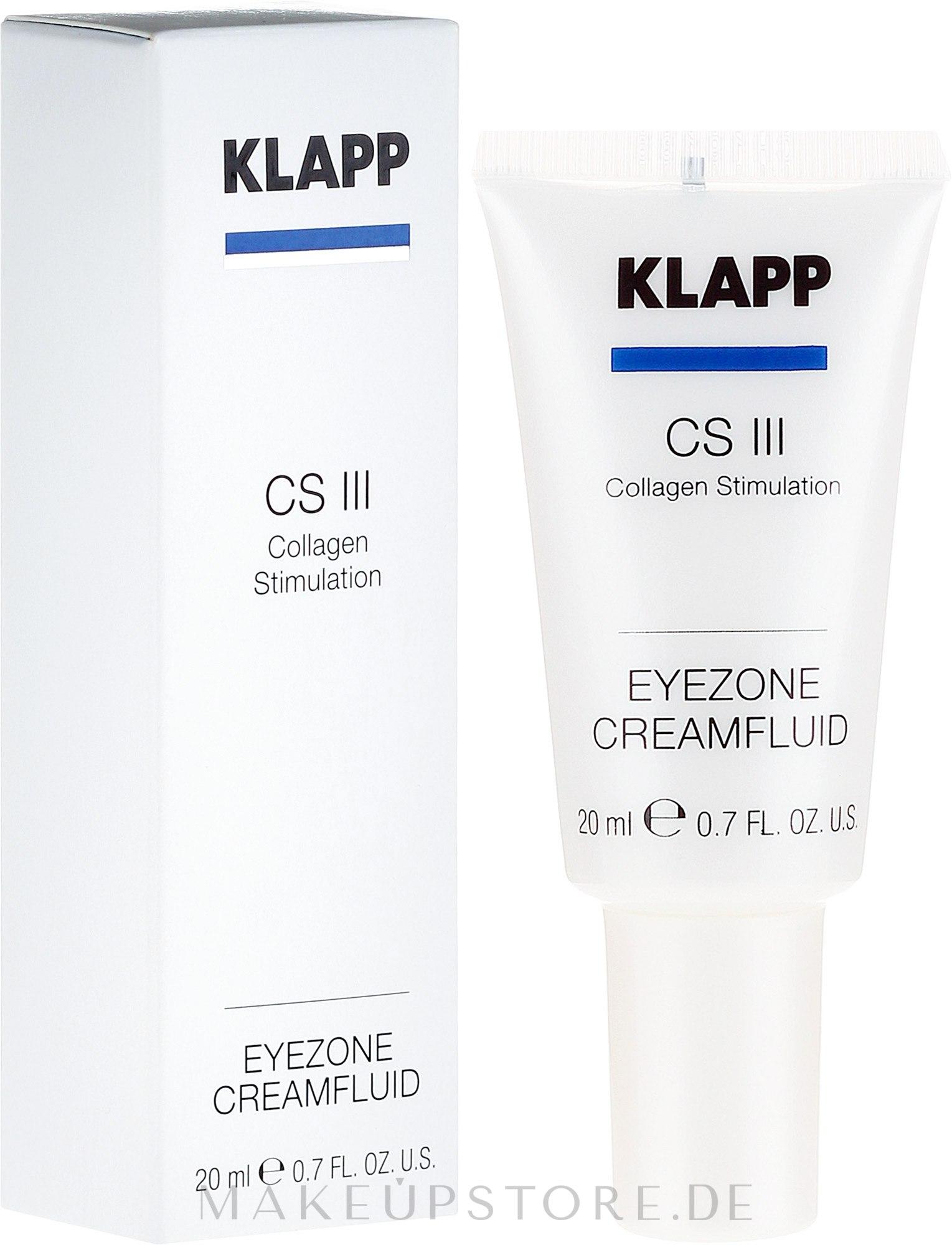 Pflegendes Creme-Fluid für die empfindliche Augenpartie mit Kollagen - Klapp Collagen CSIII Eye Zone Cream Fluid — Bild 20 ml