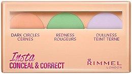 Düfte, Parfümerie und Kosmetik Concealer-Palette mit 3 Farben - Rimmel Insta Conceal & Correct Palette