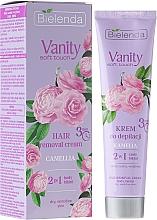"""Düfte, Parfümerie und Kosmetik Enthaarungscreme """"Kamelie"""" 2in1 für trockene und empfindliche Haut - Bielenda Vanity Soft Touch Kamelia"""