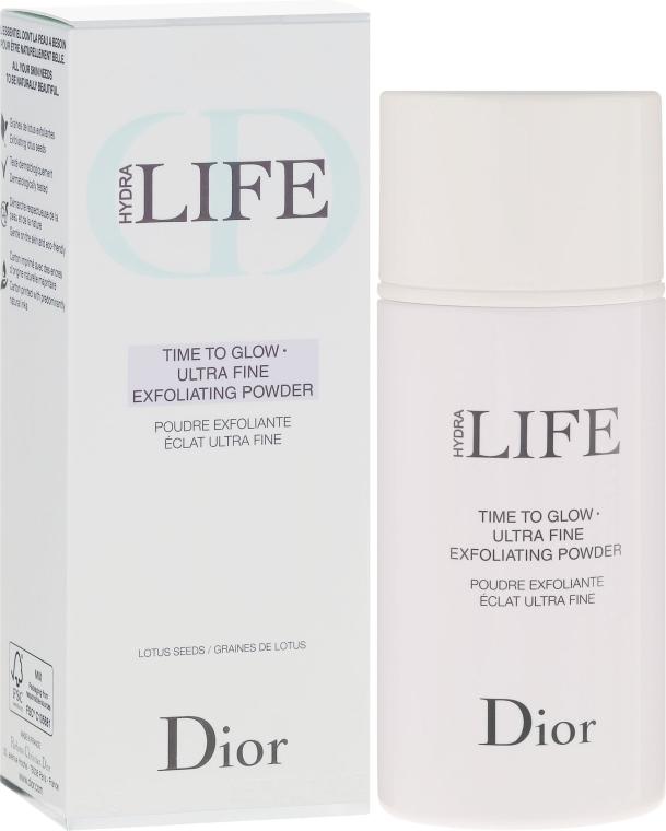Glänzendes Peeling-Puder mit Zucker und Lotussamen - Dior Hydra Life Time To Glow Ultra Fine Exfoliating Powder — Bild N1