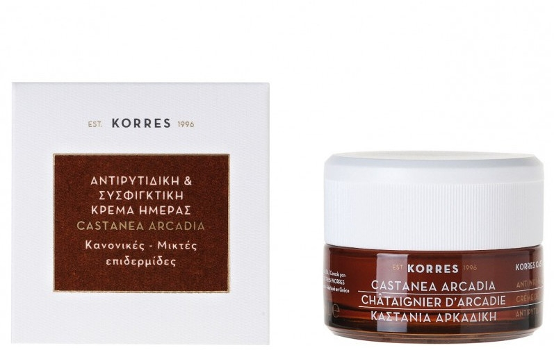 Straffende Antifalten Tagescreme - Korres Castanea Arcadia Antiwrinkle&Firming Day Cream For Dry and Very Dry Skin — Bild N1